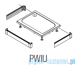 SanSwiss PWIU Obudowa do brodzika 3-stronna 80x120cm czarna PWIU801208006