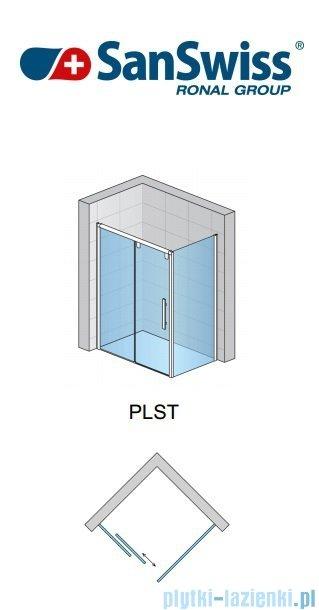 SanSwiss Pur Light S PLST SM Ścianka boczna 25-80cm profil biały szkło przejrzyste PLSTSM20407