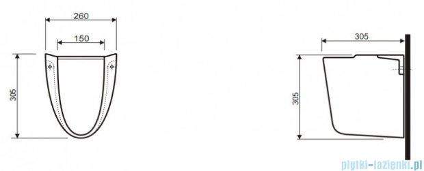 Koło Idol Półpostument umywalkowy ceramiczny 77100000