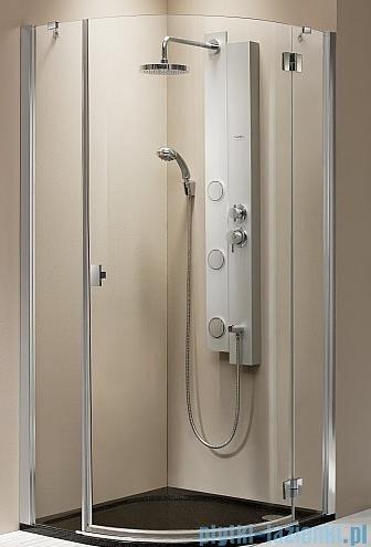 Radaway kabina Essenza PDJ 90x90 prawa szkło brązowe + brodzik Delos A + syfon