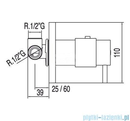 Tres Tresmostatic Bateria termostatyczna podtynkowa kolor chrom 1.90.647