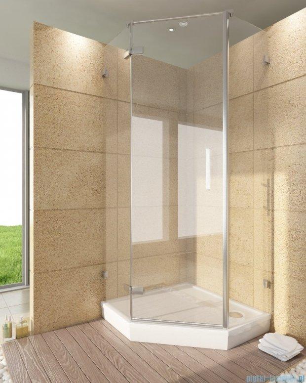 SanSwiss Pur PUT51 Ścianka boczna do kabiny 5-kątnej 30-100cm profil chrom szkło Durlux 200 PUT51SM11022