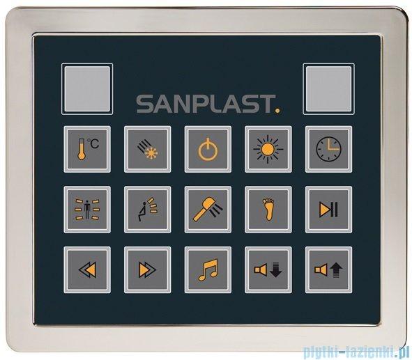 Sanplast Space Line kabina parowo-hydromasażowa KN/SPACE LINE-HP prawa 100x100x220 cm 630-100-0420-39-401