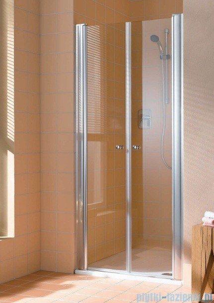 Kermi Atea Drzwi wahadłowe, szkło przezroczyste, profile białe 90cm ATPTD090182AK