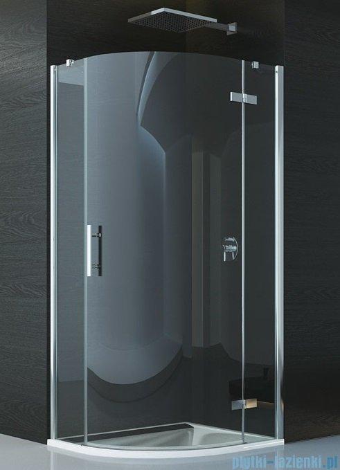 SanSwiss Pur P3P Kabina półokrągła 80cm profil chrom szkło przezroczyste Prawa P3PD550801007