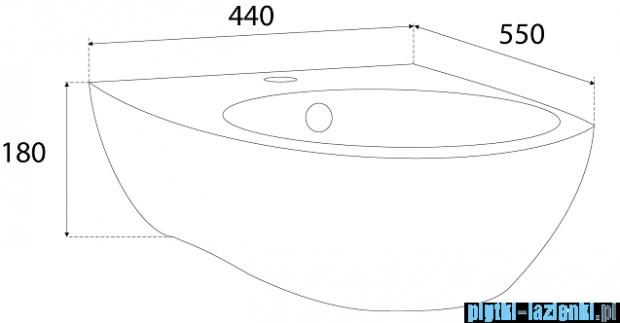 Novoterm Kerra Umywalka wisząca 44 cm Xavier 18