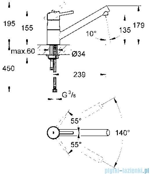 Grohe Concetto jednouchwytowa bateria zlewozmywakowa DN 15 chrom 32659001