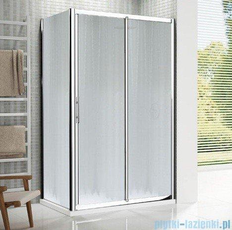 Novellini Drzwi prysznicowe przesuwne LUNES 2P 156 cm szkło przejrzyste profil biały LUNES2P156-1D