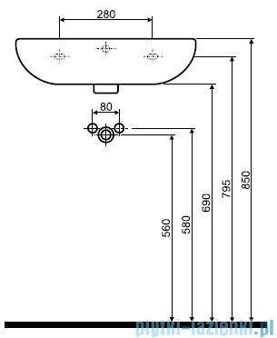 Koło Rekord Umywalka 55cm z otworem K91155000