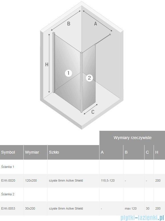 New Trendy New Modus kabina Walk-In 120x30x200 cm przejrzyste EXK-0020/EXK-0053