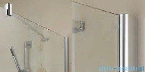 Kermi Diga Ściana boczna, szkło przezroczyste, profile srebrne 80x200cm DITWD08020VAK