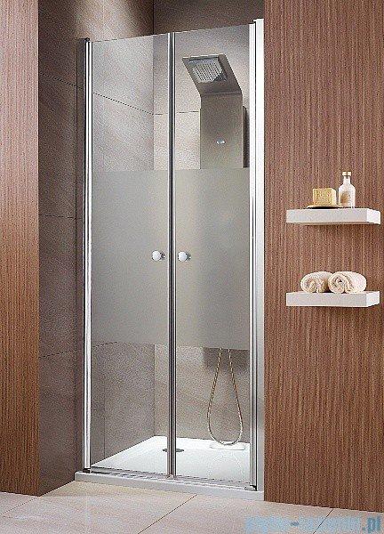 Radaway Eos DWD Drzwi wnękowe 90 szkło intimato + brodzik Delos C + syfon 37703-01-12N