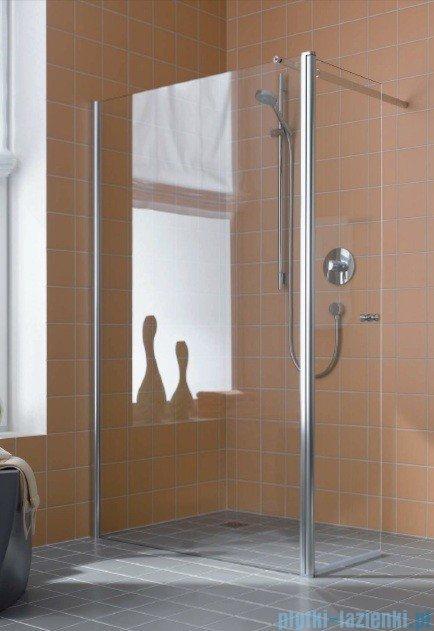 Kermi Atea Ściana boczna wolno stojąca z ruchomym skrzydłem, lewa, szkło przezroczyste, profile srebrne 90cm ATTFL09018VAK