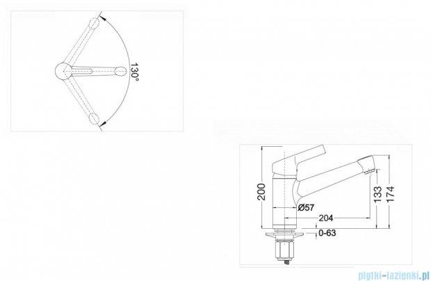 Blanco Elipso II bateria wysokociśnieniowa kolor: jaśmin 514888