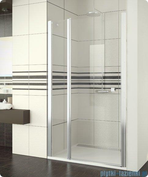 SanSwiss Swing Line SL13 Drzwi prysznicowe 120-160cm profil biały SL13SM20407