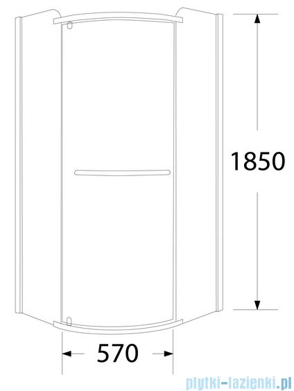 Sea Horse Sigma zestaw kabina natryskowa półokrągła lewa, 80x80, szkło Moon + BRODZIK BKZ1/3/RML