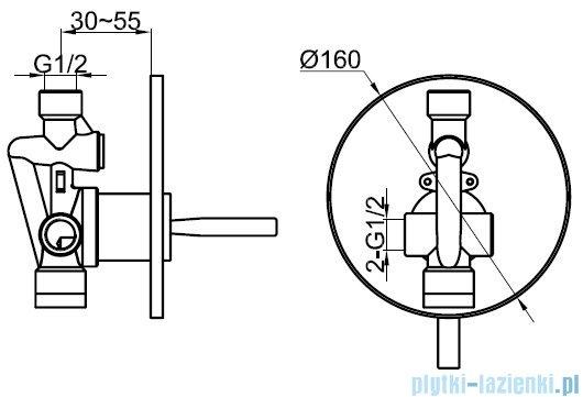 Kohlman Maxima zestaw prysznicowy chrom QW220MR35