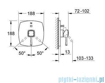 Grohe Grandera jednouchwytowa bateria wannowa chrom 19920000