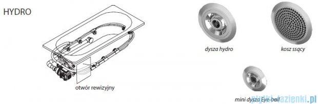Riho Delta wanna asymetryczna lewa 150x80 z hydromasażem PRO Hydro 6+4+2 BB81P6