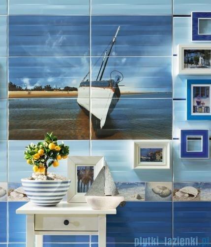 Tubądzin Maxima blue 2 dekor ścienny 6-elementowy 67,3x89,8