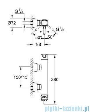 Grohe Grandera jednouchwytowa bateria prysznicowa chrom/złoty 23316IG0