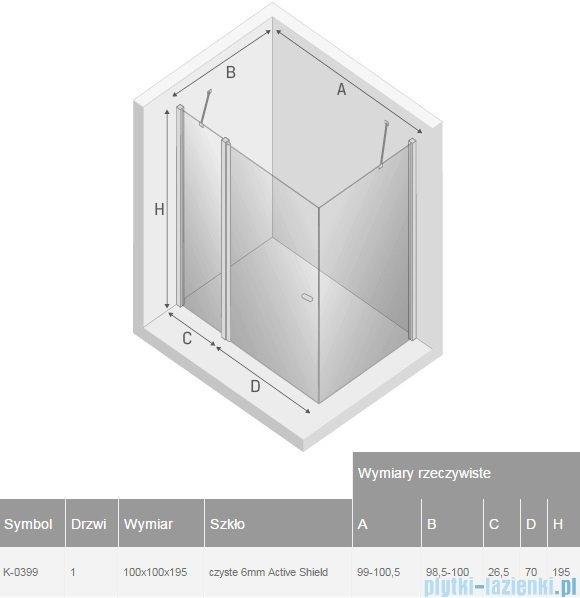 New Trendy New Soleo 100x100x195 cm kabina kwadratowa przejrzyste K-0399