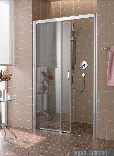 Kermi Atea Drzwi przesuwne bez progu, lewe, szkło przezroczyste, profile srebrne 110x185 ATD2L11018VAK