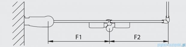 Kermi Diga Wejście narożne,połowa kabiny, prawa, szkło przezroczyste, profile białe 140x200cm DI2CR140202AK