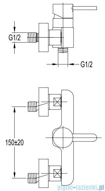 Omnires Darling zloty bateria prysznicowa złoto PVD DA5040