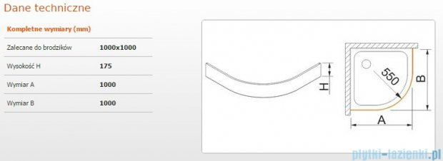 Sanplast Obudowa brodzika OBP 100x100x17,5 cm 625-403-0440-01-000