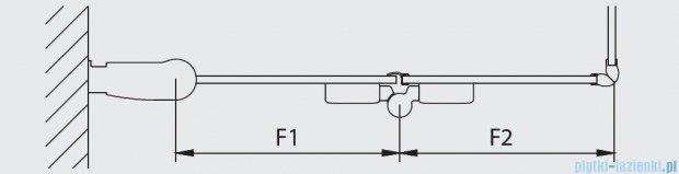 Kermi Diga Wejście narożne,połowa kabiny, lewa, szkło przezroczyste, profile srebrne 70x200cm DI2CL07020VAK