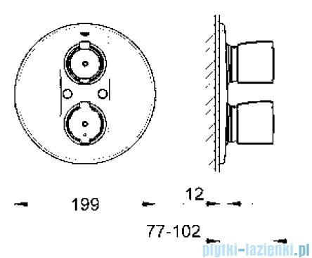 Grohe Grohtherm 2000 Special bateria termostatyczna do obsługi jednego wyjścia wody  19416000