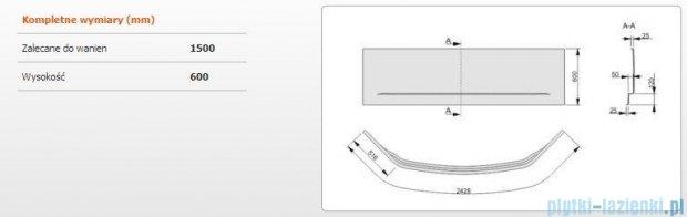 Sanplast Obudowa do wanny Free Line symetryczna, OWS/FREE 150x150 cm 620-040-0550-01-000
