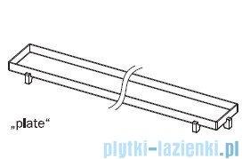Tece Ruszt prosty Plate ze stali nierdzewnej Tecedrainline do wypełnienia płytkami 150 cm połysk 6.015.70