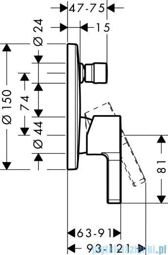 Hansgrohe Jednouchwytowa bateria podtynkowa wannowa 31466000