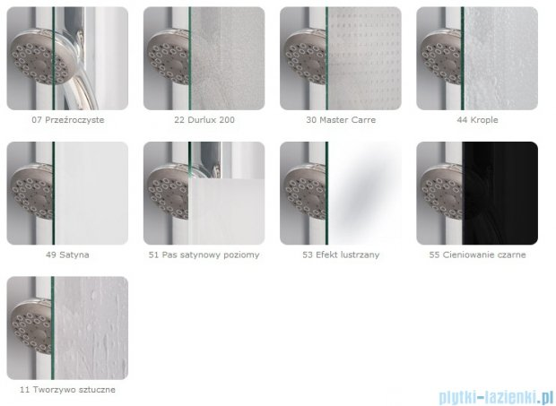 SanSwiss Top-Line Drzwi 2-częściowe 90cm profil połysk TOPK09005007