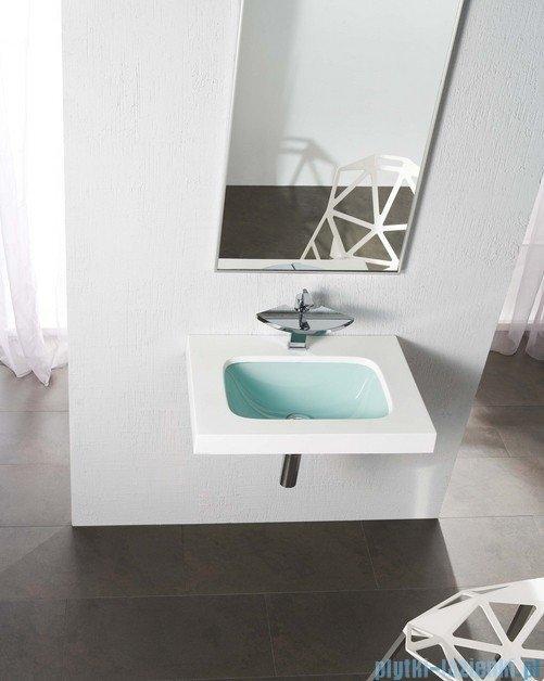Bathco umywalka dolomitowo-szklana Une Akwamaryna 60x45 cm 0526AQ