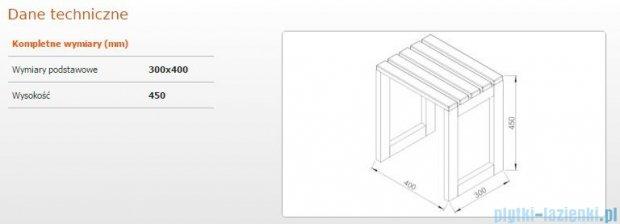 Sanplast Taboret 30x40x45 cm meranti 661-A0013-19