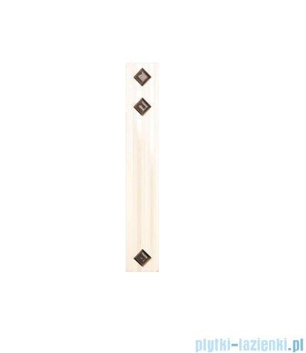 Paradyż Secret bianco kostki murano listwa 4,8x29,8