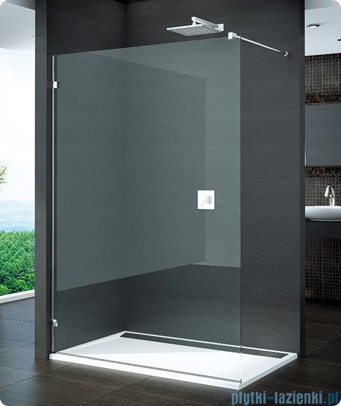 SanSwiss Pur PDT4 Ścianka wolnostojąca 30-100cm profil chrom szkło Pas satynowy Lewa PDT4GSM21051
