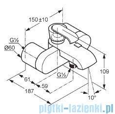 Kludi Joop Bateria wannowo-natryskowa ścienna DN 15 chrom 554430575