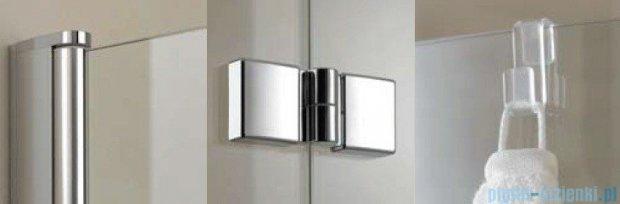 Kermi Diga Parawan na wannę, prawy, szkło przezroczyste, profil biel 100x150 DI2PR100152AK