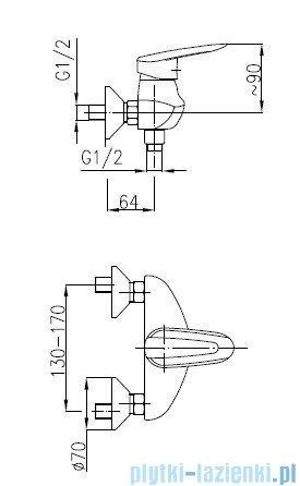 KFA SALIT Bateria natryskowa ścienna 4506-010-00