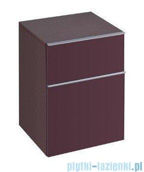 Keramag Icon Szafka wisząca boczna niska 45cm burgund połysk 840046