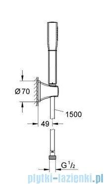 Grohe Grandera™ Stick zestaw punktowy chrom/złoty 27993IG0
