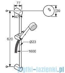 Kludi Zenta Zestaw natryskowy 3S dł.60cm chrom 6083005-00