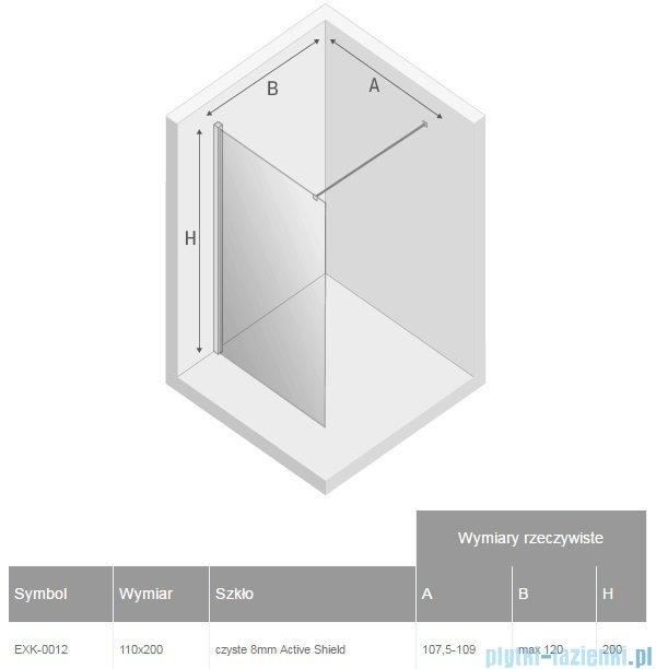 New Trendy New Modus kabina Walk-In 110x200 cm przejrzyste EXK-0012
