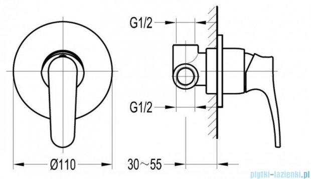 Omnires Art Deco bateria natryskowa podtynkowa chrom AD5145
