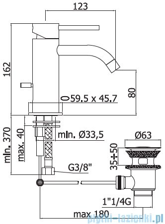 Paffoni Light elllight  bateria umywalkowa chrom ELL075
