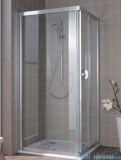 Kermi Atea Wejście narożne prawe, połowa kabiny, szkło przezroczyste, profile srebrne 100x200cm ATC2R10020VAK